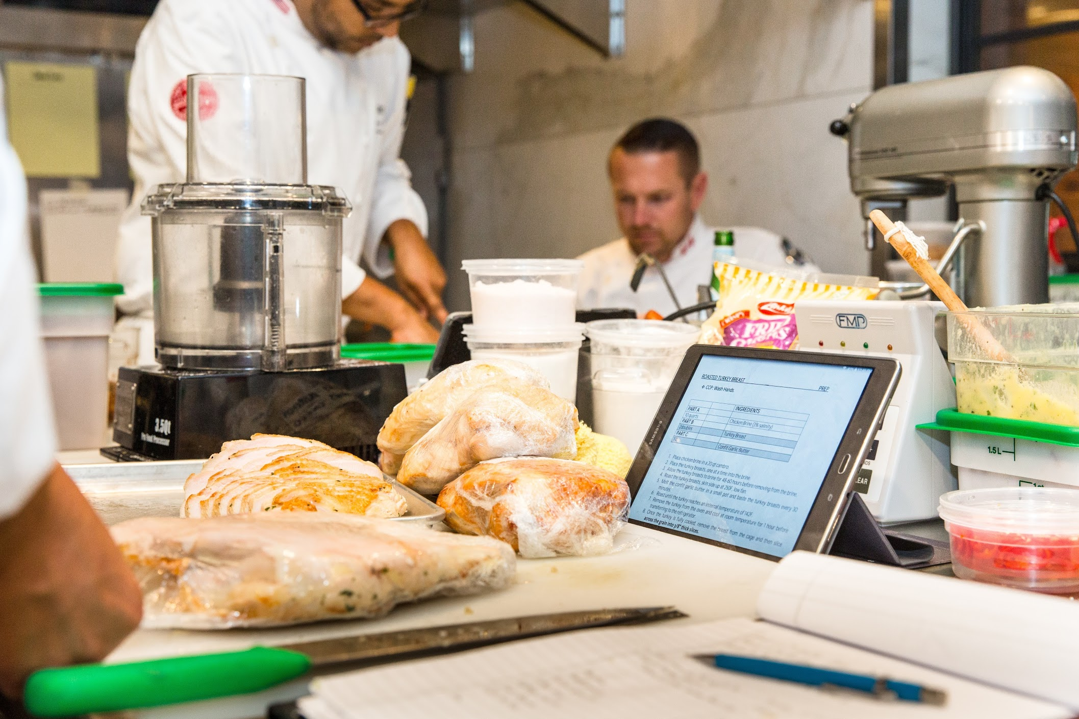 Earls' chefs pulling recipes directly on their tablet devices with Google Apps