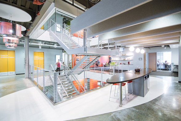 Inside look at Whirlpool's headquarters kitchen conference rooms and stairways
