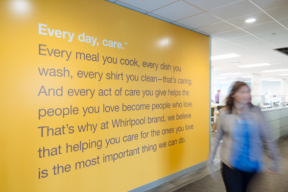 Whirlpool's everyday care project mission statement