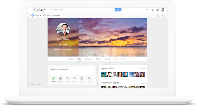 captura de pantalla de google+